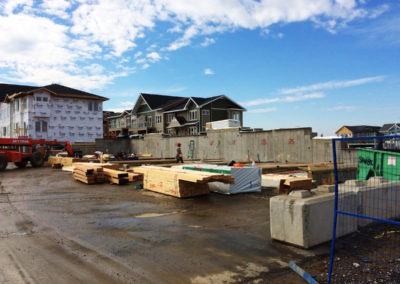 starting to frame a new multi-family unit in SE Calgary